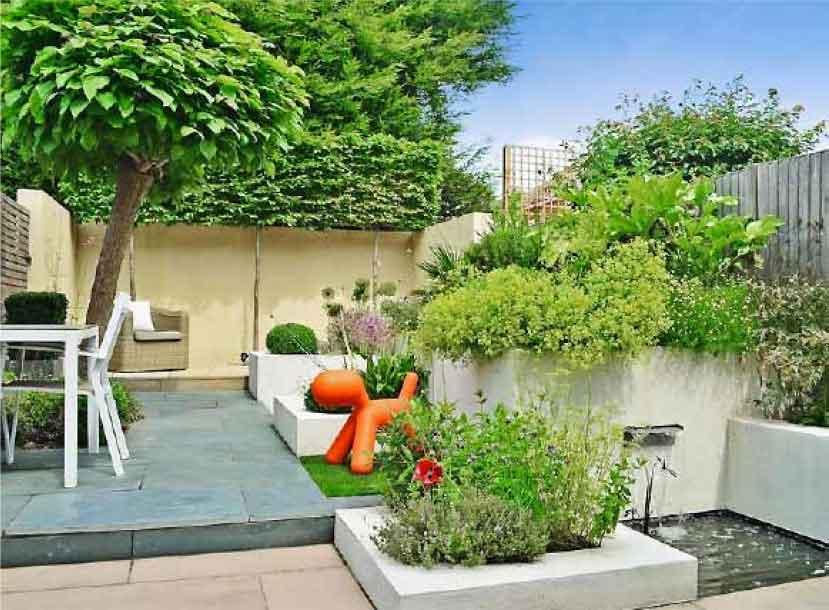 Joanne and Ian's garden